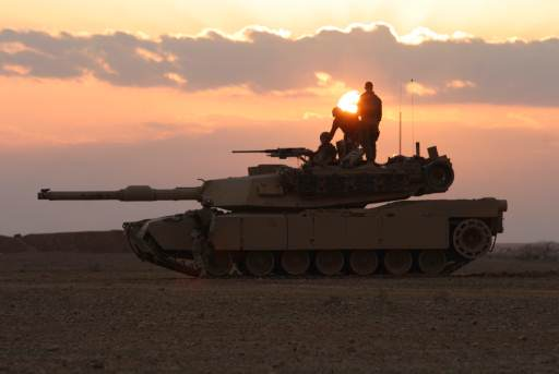 Marines on Tank in Iraq