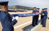 Daily retreat ceremony with lowering of the flag conducted on the USAFA's Terrazzo.