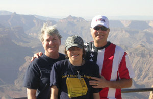 David Bancroft with wife and grandson at the Grand Canyon