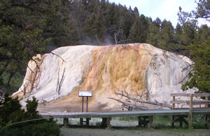 Orange Spring Mound in Mammoth Hot Springs area