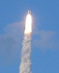 Space shuttle Discovery's launch on May 31, 2008