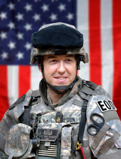 July 16, 2009 - Air Force Tech. Sgt. Matthew Slaydon – an explosive ordinance disposal technician who was severely wounded in Iraq – and his wife, Annette, hope to use their experience to help servicemembers and their families cope with deployment and injuries.