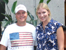 David Bancroft (founder of USA Patriotism!) with Holly Williams (daughter of Hank Williams, Jr.) at Country Music Hall of Fame and Museum on July 3, 2009.