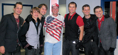 David Bancroft, founder of USA Patriotism!, with six of the Haygood brothers.
