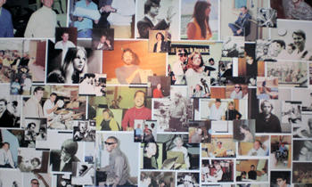 Great wall pictorial of singers / musicians of many genres at the Musicians Hall of Fame and Museum.