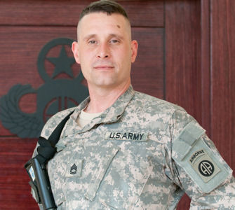 Army Sgt. 1st Class John Bushnell, deployed to Camp Ramadi, Iraq, represents the third generation of his family to serve in combat with the 82nd Airborne Division.