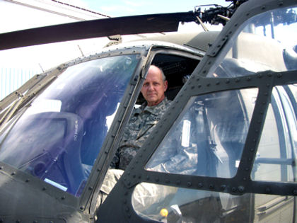 Army Chief Warrant Officer Herbert Dargue, an Army rotary-wing aircraft pilot since 1967, will fly his last flight with the New York Army National Guard on March 26, 2010. Dargue, who has more than 21,000 hours of flight time in military and civilian helicopters, is an expert at flying in New York City's congested airspace.