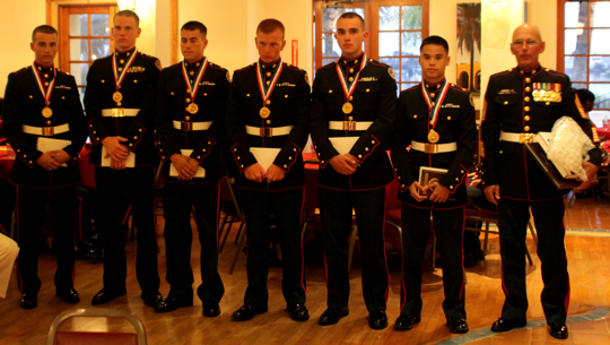 Catholic High School, Little Rock, Ark., took home the gold metal in the Marine Corps Junior Reserve Officers' Training Corps team competition during an awards ceremony at the depot Bayview Restaurant May 15, 2010.