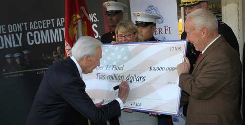Television personality Bob Barker donated $2 million to the Semper Fi Fund, a non-profit organization that provides financial assistance to post 9-11 Marines and sailors on March 9, 2011.
