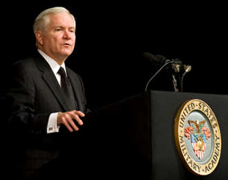 Defense Secretary Robert M. Gates addresses the cadets at the United States Military Academy at West Point, N.Y., Feb. 25, 2011. DOD photo by Cherie Cullen