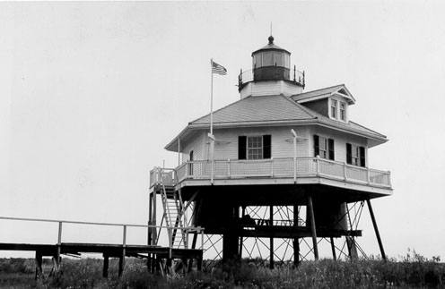 The Fort Point Lighthouse barely survived the Great Galveston Hurricane of 1900. (U.S. Coast Guard photo)