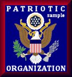 Patriotic Organizations Hall of Honor badge sample