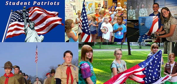 Student Patriots is all about America's learning generation in 1st to 12th grade!