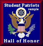 Student Patriots Hall of Honor Badge Sample