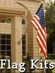 A variety of American flag kits for every taste and every budget ... featuring top-quality flags, beautiful poles and durable hardware. Some of the outdoor flag sets come gift-boxed for giving to a family members and friends ... for new home, birthdays, Memorial Day, Father's Day, Veteran's Day and more!