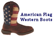 Men and Lady's American Flag Western Boots