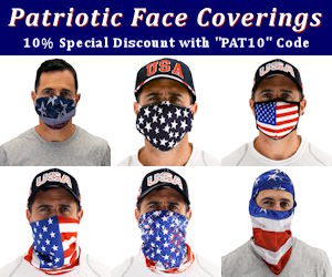 "Patriotic Flag Coverings with 10% discount using ""PAT10"" Code"