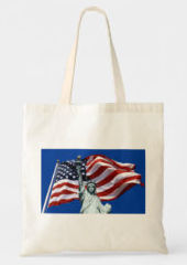 Lady Liberty, Old Glory Tote Bag