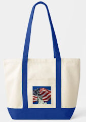 Lady Liberty, Old Glory Blue Tote Bag