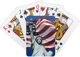 Lady Liberty and Old Glory Playing Cards