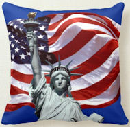 Lady Liberty, Old Glory Throw Pillow