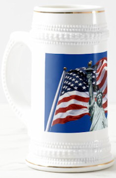 US Flag Liberty Stein - WC