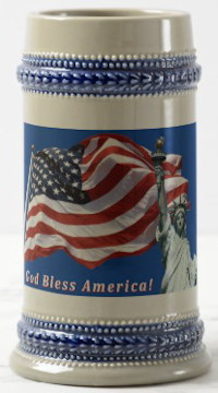 US Flag Liberty Stein - God Bless America GB