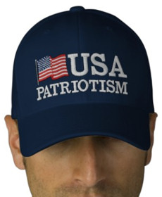 USA Patriotism! Logo Cap - Navy Blue with Flag