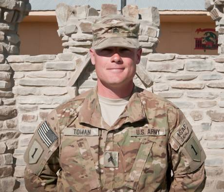 October 23, 2012 - Sgt. Bradley Toman a native of Davison, Mich., who serves with the 4th Infantry Brigade Combat Team,1st Infantry Division in eastern Afghanistan. Toman enlisted in the Army as a combat engineer. U.S. Army photo by Staff Sgt. Nick Morales, Task Force 4-1 PAO