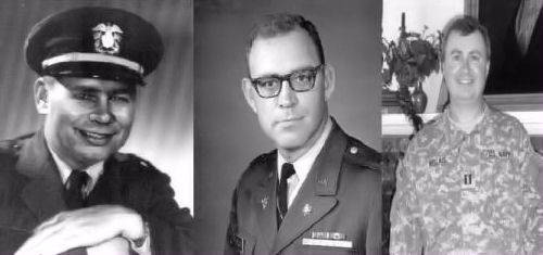 CWO Charles Bellais, Maj. William Bellais, Lt. John Bellais ... three generations of veterans