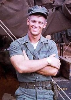 Marine Sgt. Maj. Charles Chamberlain, during the Vietnam War. He retired from active duty service Oct. 1, 1992, and accepted positions as a store detective for the Combat Center's Exchange and as a sports coordinator at the installation's Sports Activities Center. Courtesy Photo