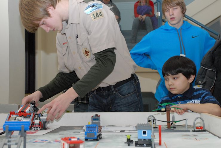 Twenty-four children between the ages 9 and 17 visited the district headquarters building Feb. 14, 2014 to participate in the biennial Bring Your Youth to Work Day event. The kids were encouraged to think about future careers in the fields of science, technology, engineering and mathematics. Demonstrations exposed them to different elements of the Corps of Engineers such as breakwaters, cost engineering, computer generated modeling, environmental sampling and wetland permitting. (U.S. Army photo by John Budnik)