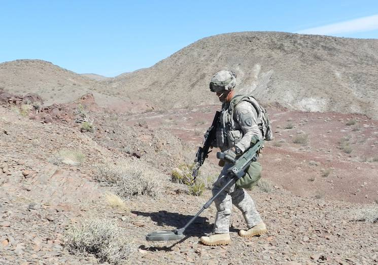 Army EOD technicians from the 20th CBRNE Command (Chemical, Biological, Radiological, Nuclear, Explosives) defuse unexploded ordnance both on and off post across the nation. (U.S. Army courtesy photo)
