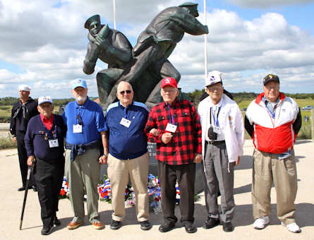 Some of our Veteran heroes (from left): Lou Rabesa, Ned Knapp, Andy Anderson, J. Bryan Sperry, Bill Kamsler, and John Primerano