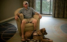 November 2012 - Wounded warrior Jim Stanek proudly talks about his service in the U.S. Army; the wounds incurred in combat while on several deployments; his service/therapy dog, Sarge; and, his foundation that provides service dogs to veterans suffering PTSD.