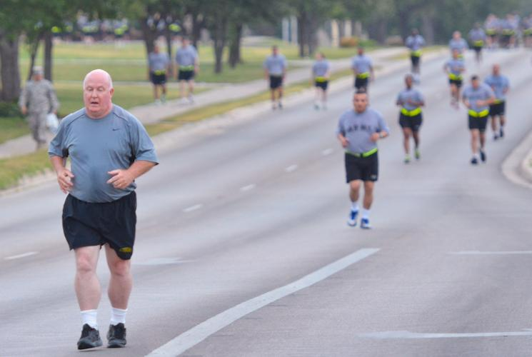 Training on Fort Hood, Texas, August 20, 2014. Wright a retiree of more than 20 years dedicates his time to encouraging Soldiers on Fort Hood. (U.S. Army photo by Sgt. Brandon K. Anderson)