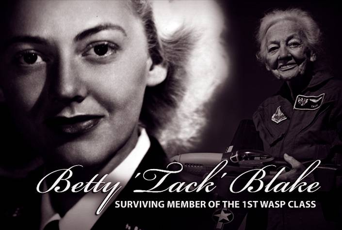 Betty 'Tack' Blake is believed to be the only living graduate of the first Women's Airforce Service Pilot training class during World War II. The class began with 38 women pilots on Nov. 16, 1942, but only 23 graduated on April 24, 1943. They weren't known as WASPs until the merging of the Women's Flying Training Detachment and Women's Auxiliary Ferrying Squadron on Aug. 5, 1943. (U.S. Air Force graphic by Sylvia Saab)