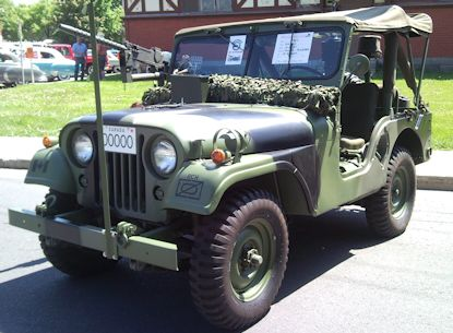 1953 Willy Jeep - U.S. Army (Not the actual jeep Bill and Tomas Hansen' recreated.)