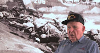 Frank Matthews (24th Marines, 4th Marine Division - Iwo Jima) recounts a personal story of the landing at Iwo Jima at the National Marine Museum in June 2010.