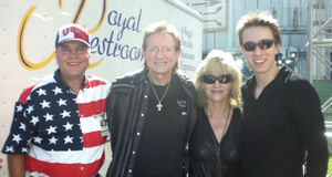 David Bancroft with Bill, Kim, and Jimmy Nash