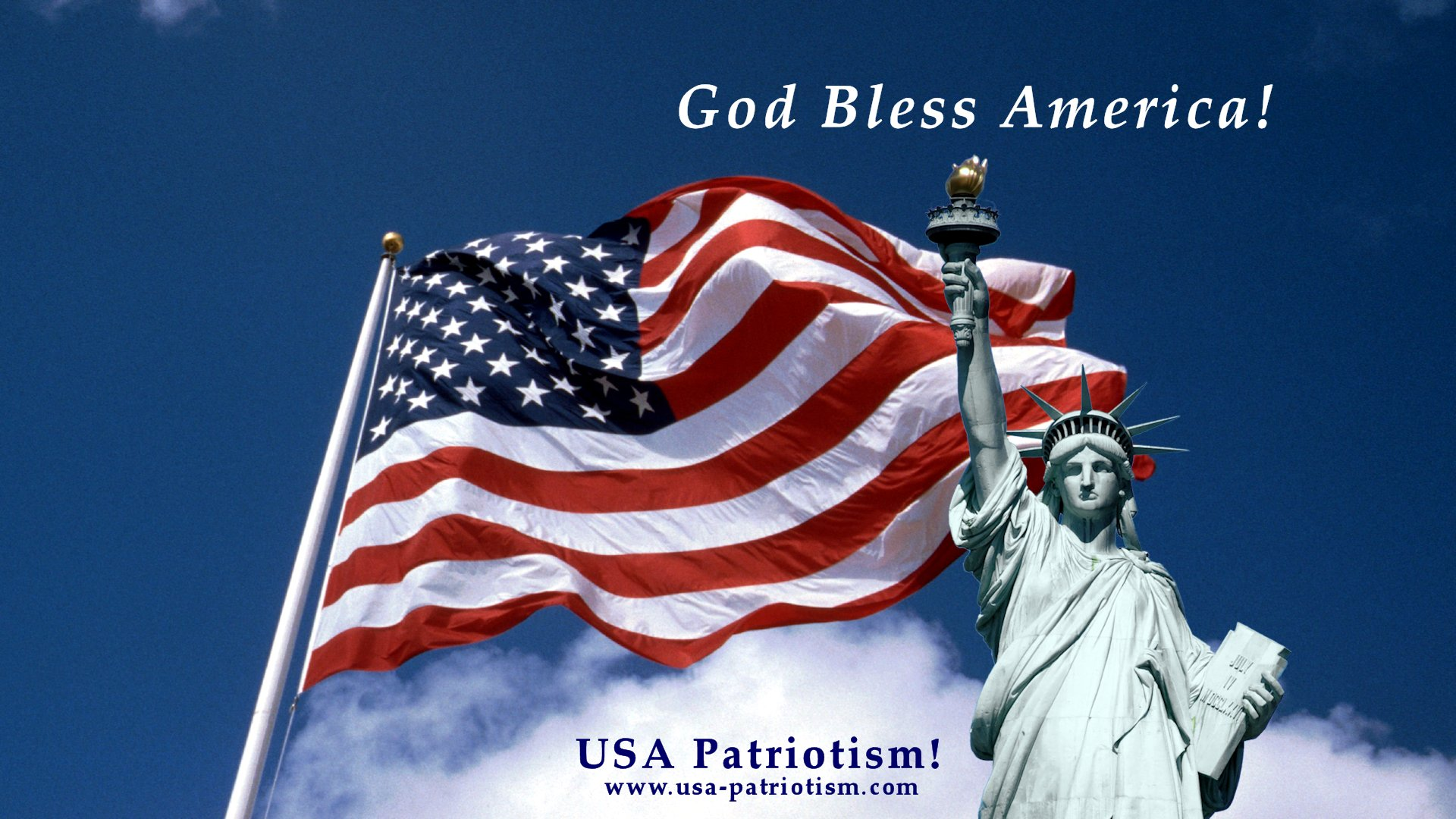 Usa patriotism patriotic banners and backgrounds for free use god bless america 1 voltagebd Choice Image